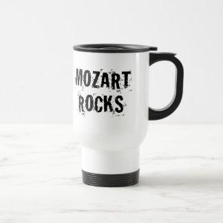 Cadeau drôle de musique de roches de Mozart Mug De Voyage