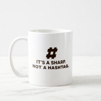 Cadeau drôle de tasse de café - c'est un dièse,