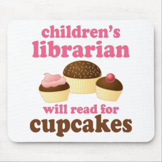 Cadeau du bibliothécaire d'enfants d'amant de tapis de souris