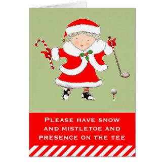cadeau du golf des femmes carte de vœux