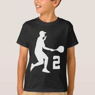 Cadeau du numéro 2 de joueur de tennis t-shirt