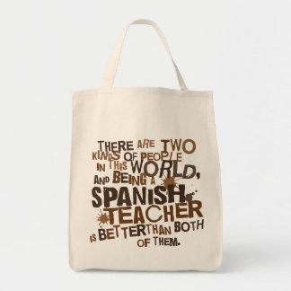 Cadeau espagnol de professeur sac en toile