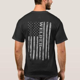 Cadeau fier décontracté vintage de soudeuse de t-shirt