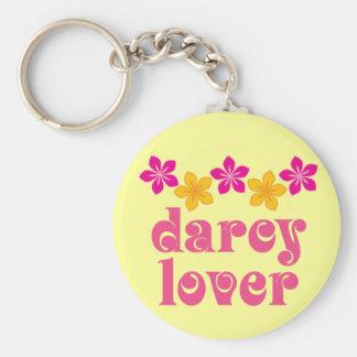 Cadeau floral d'amant de Jane Austen Darcy Porte-clé Rond