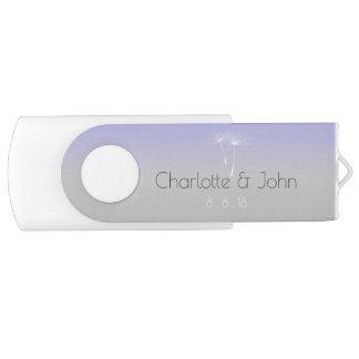 Cadeau gris pourpre de Merci de pissenlit de Clé USB 2.0 Swivel