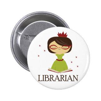Cadeau livresque de bibliothèque de bibliothécaire badge