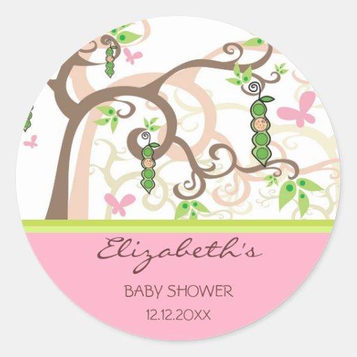 cadeau magique lunatique de baby shower de fille sticker rond zazzle. Black Bedroom Furniture Sets. Home Design Ideas