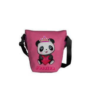 Cadeau mignon rose de princesse Panda Messenger Ki Sacoche