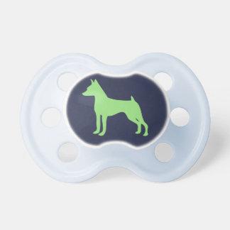 Cadeau miniature de Pinsche de tétine de bébé de