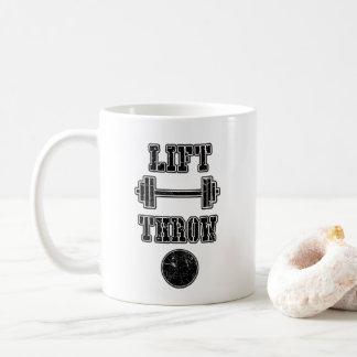 Cadeau mis par tir de tasse de café de jet