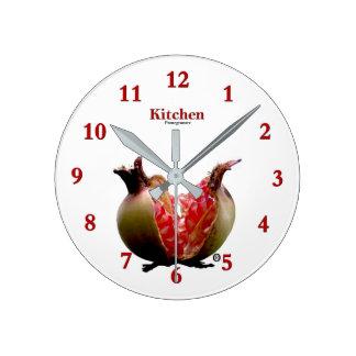 Cadeau moderne d'horloge murale de grenade de horloge ronde