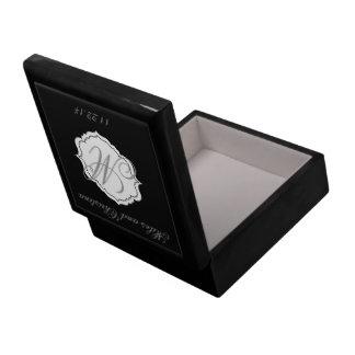 Cadeau noir de préposé de boîte de souvenir de grande boîte à bijoux carrée