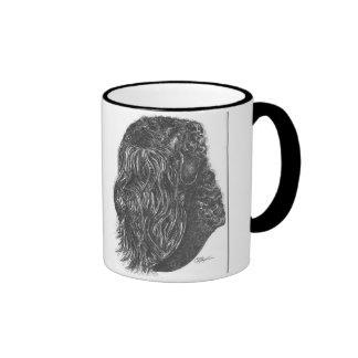 Cadeau noir de tasse d'animal familier de chien de