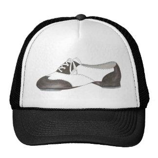 Cadeau noir et blanc de professeur de danse de casquette de camionneur