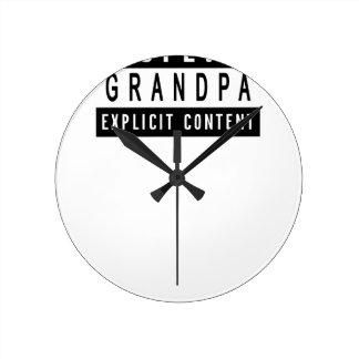 Cadeau parfait de meilleur T-shirt drôle de Horloge Ronde