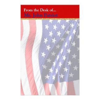 Cadeau patriotique américain du drapeau | pour des papier à lettre