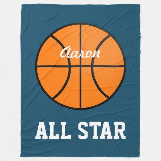 Cadeau personnalisé de couverture de basket-ball