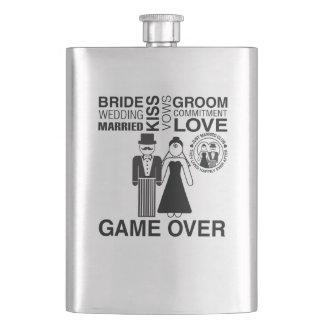 Cadeau personnalisé de flacon de marié de jeune