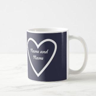 Cadeau personnalisé de tasse de coeur