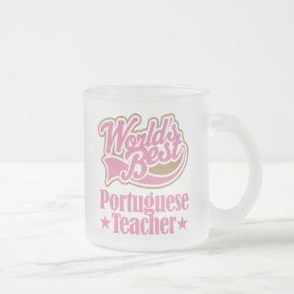 Cadeau portugais de professeur (mondes meilleurs) tasse givré