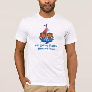 Cadeau pour les quarante-septième singes t-shirt