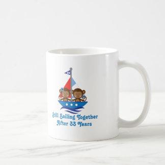 Cadeau pour les trentes-troisième singes mug