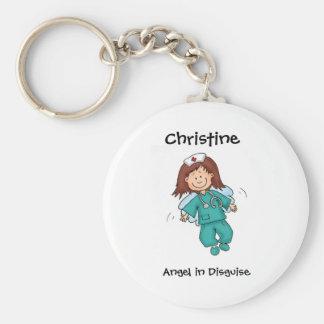 Cadeau pour l'infirmière - personnalisez avec le n porte-clés