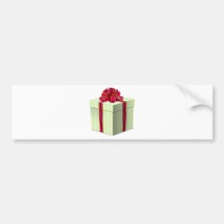Cadeau/présent rayés brillants avec le ruban rouge adhésif pour voiture