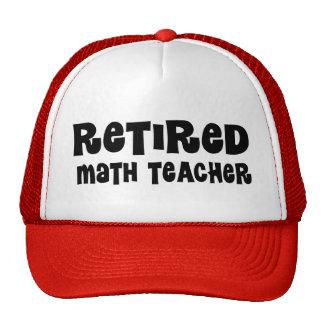 Cadeau retiré de professeur de maths casquette de camionneur