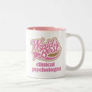 Cadeau rose de psychologue clinicien tasse 2 couleurs