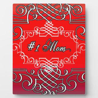 Cadeau rouge de typographie du jour de mère de la impressions sur plaque