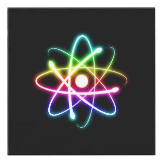 Cadeau rougeoyant coloré de physique de geek du