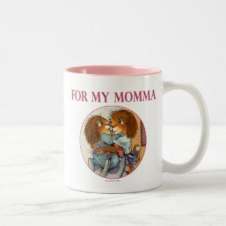 Cadeau spécial pour des mamans mug bicolore