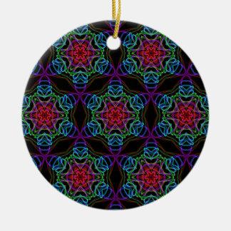 Cadeau très unique, motif de lumière de LED Ornement Rond En Céramique