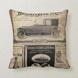 Cadeau vintage de coutume de journal coussin décoratif