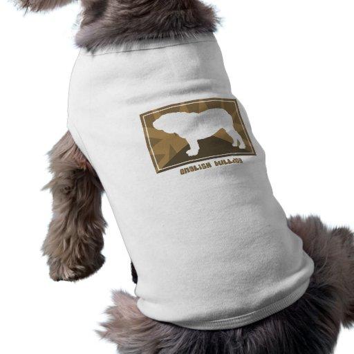 Cadeaux anglais terreux de bouledogue t-shirts pour animaux domestiques