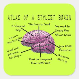 """Cadeaux """"atlas de coiffeur d'un cerveau de stylist"""