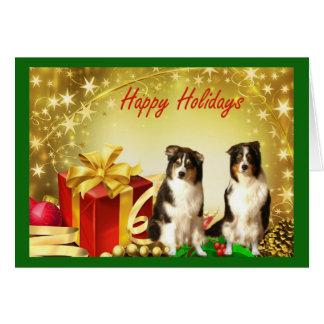 Cadeaux australiens de carte de Noël de berger