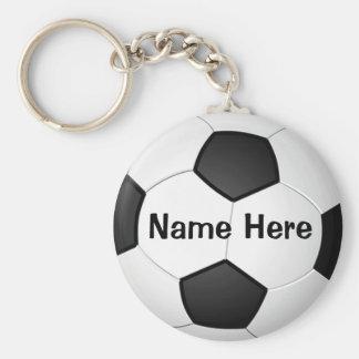 Cadeaux bon marché personnalisés du football pour porte-clé rond