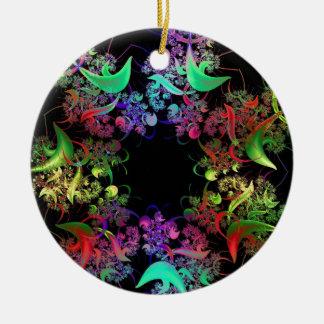 Cadeaux colorés d'art de fractale de conception de ornement rond en céramique