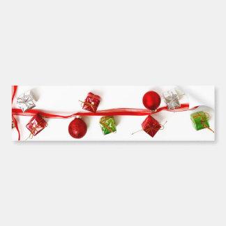 Cadeaux colorés de fête de ruban de décor de Noël Autocollant De Voiture