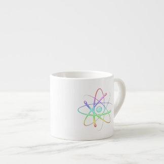 Cadeaux colorés de geek de l'atome | tasse expresso