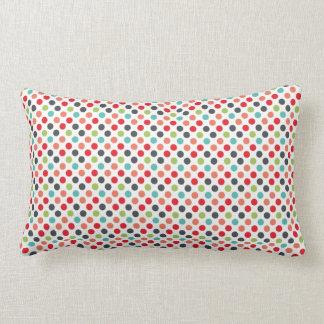 Cadeaux colorés modernes de motif de pois coussin décoratif