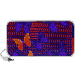 Cadeaux contemporains de motif de papillon par haut-parleurs mp3