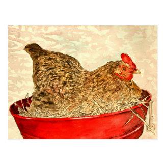 cadeaux d art de peinture de poulet de poule cartes postales