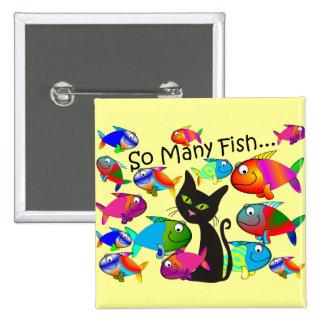 """Cadeaux d'amoureux de les chats de """"tant de poisso badge"""