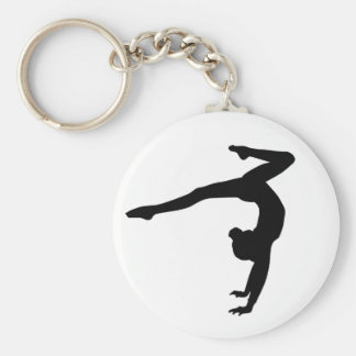 Cadeaux d'appui renversé de mâle de gymnaste porte-clé rond
