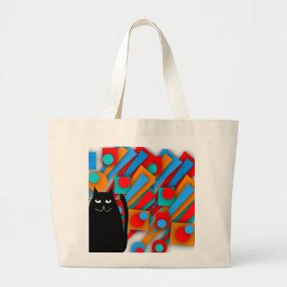 Cadeaux d'art de chat noir grand sac