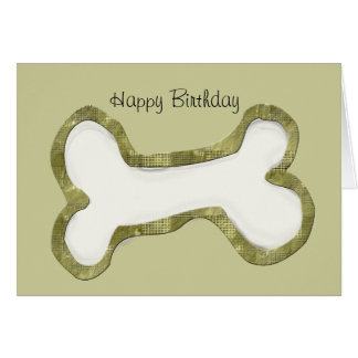 Cadeaux d'art d'os de chien carte de vœux