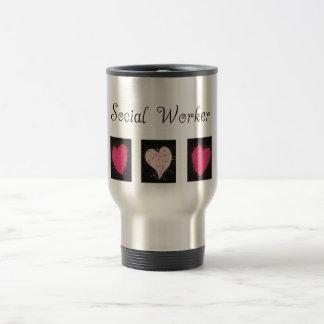 Cadeaux d'assistant social mug de voyage